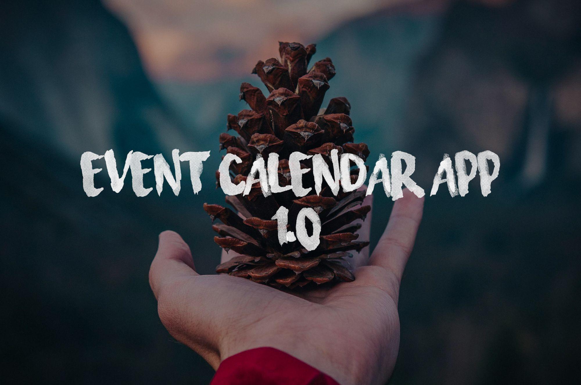 Event Calendar App 1.0