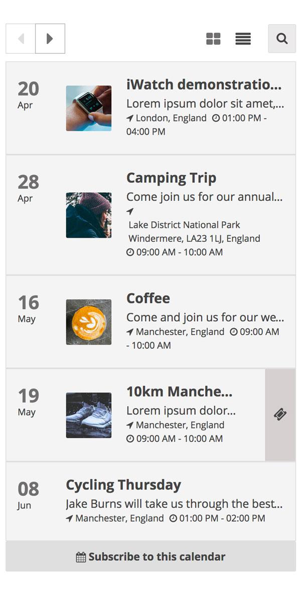 Event Calendar for Wix